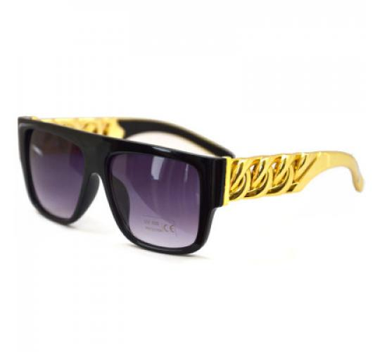 Wholesale 30PCS Unisex Celebrity Inspired Gold Chain Arm Sunglasses UV400 - 30 pieces