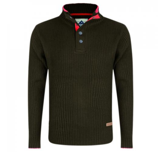 Crew Sweater Olive Colour by Stallion