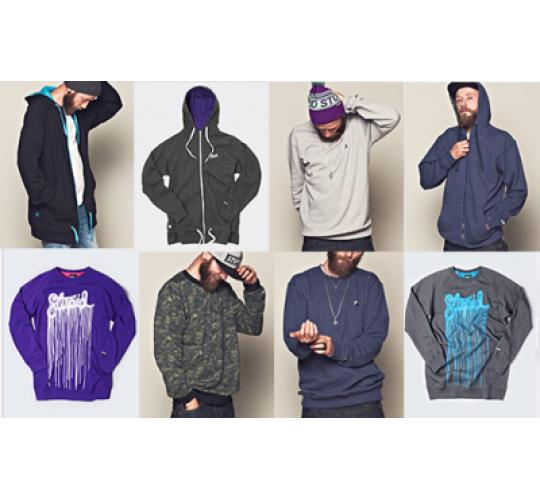 120 mixed colours of hoods and sweats