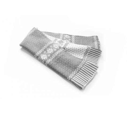 Reversible Snowflake White/Grey Scarves