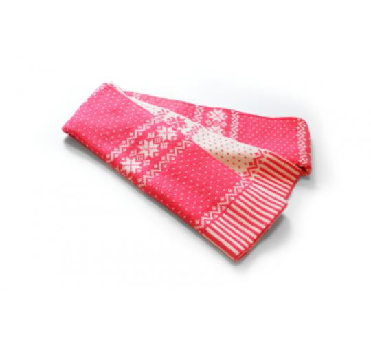 Reversible Snowflack Pink/White Scarves