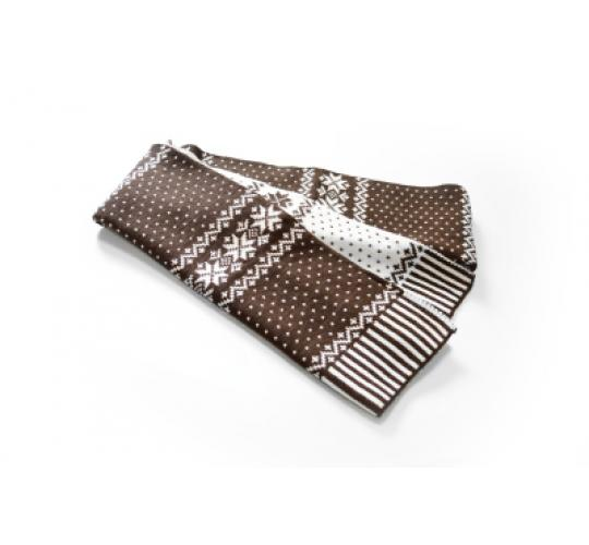 Reversible Snowflake Brown/White Scarves