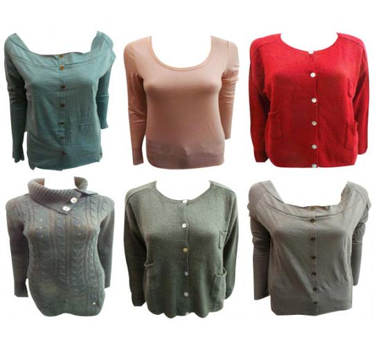 Wholesale Joblot of 10 Amy Gee Ladies Assorted Jumpers & Cardigans S-XL