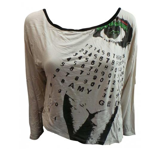 Wholesale Joblot of 10 Amy Gee Ladies Grey Numbers Long Sleeve T-Shirts