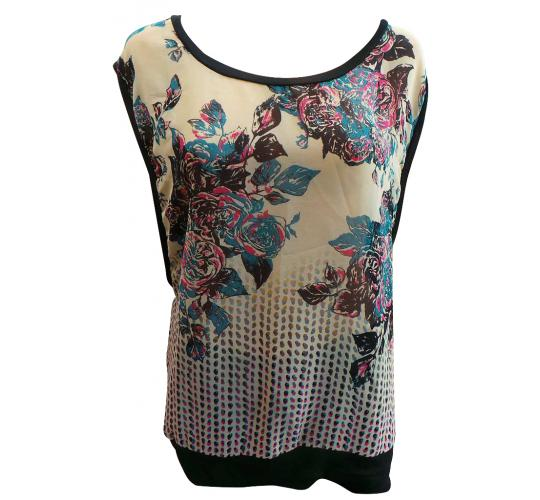 One Off Joblot of 10 Amy Gee Ladies Sleeveless Floral Tops Sizes XS-XL