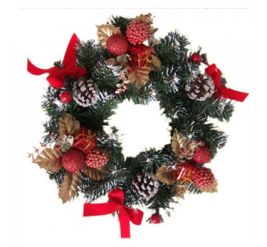 110 x Luxury Xmas Wreaths in 16 & 18 inches