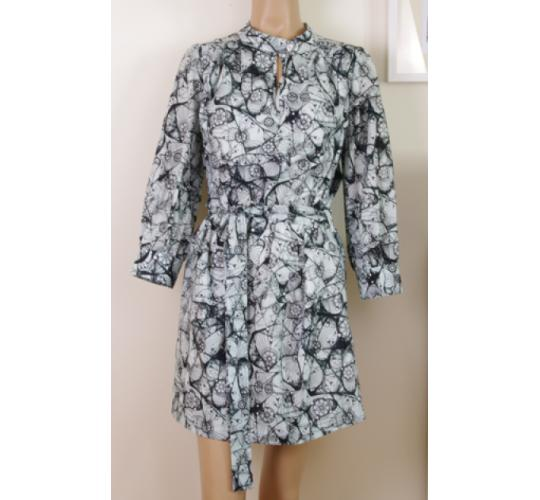 Ladies Patterned Shirt Dress Mixed Colours