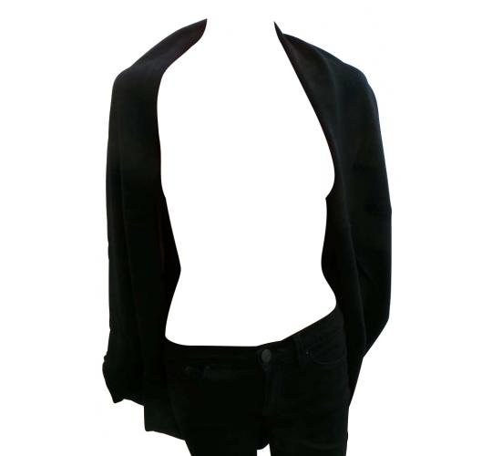 Wholesale Joblot of 10 Ladies 100% Cashmere Blend Open Front Black Cardigans