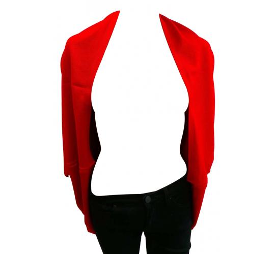 Wholesale Joblot of 10 Ladies 100% Cashmere Blend Open Front Red Cardigans