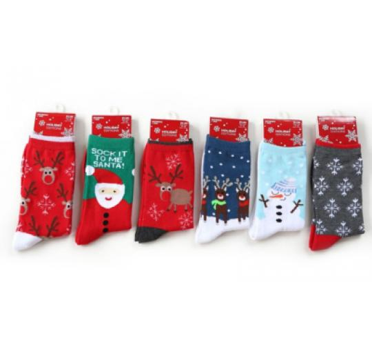 10 x 6 pairs Christmas design socks