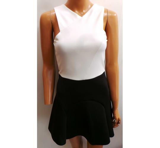 Wholesale Joblot of 12 Ladies Ex-High Street White/Black Sleeveless Dresses
