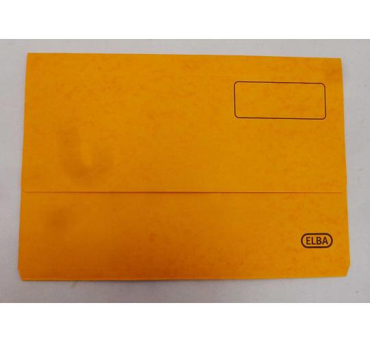 Wholesale Joblot of 20 Packs of 25 Elba Boston Document Wallets Foolscap Yellow