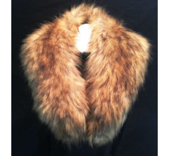 LARGE FAUX FUR TAN COLLAR