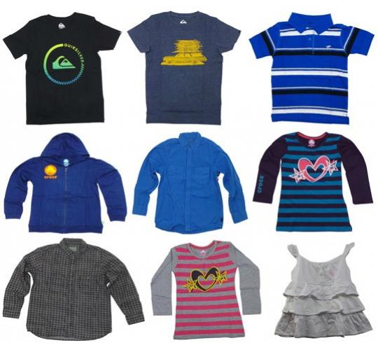 Wholesale Joblot of 20 Kids Branded Clothing - Quiksilver, Crocs, Converse Etc