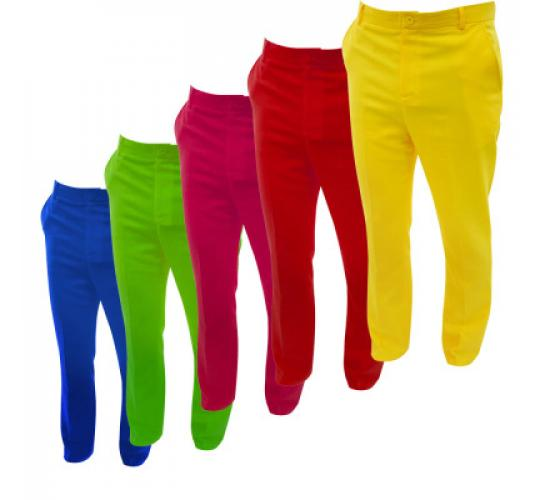 Bright Coloured Golf Trousers