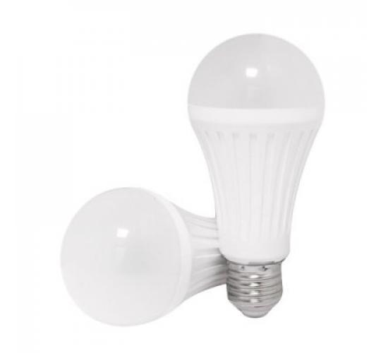 100 X E27 9W LED Globe - Dimmable, Warm White