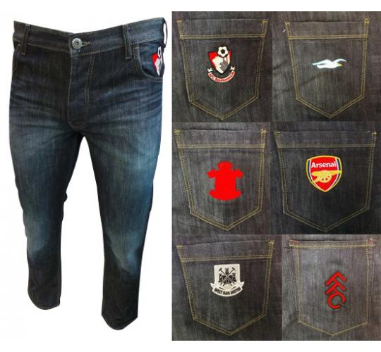 Wholesale Joblot of 10 Jean Team Football Club Jeans Assorted Clubs Available