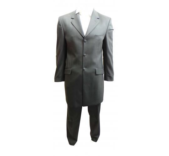 Wholesale Joblot of 4 Mens Masterhand Grey 3/4 Mozart Suits Ex Wedding Hire 312