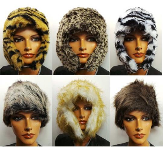 Wholesale Joblot of 25 Assorted Ladies Trapper/Cossack Styled Faux Fur Hats