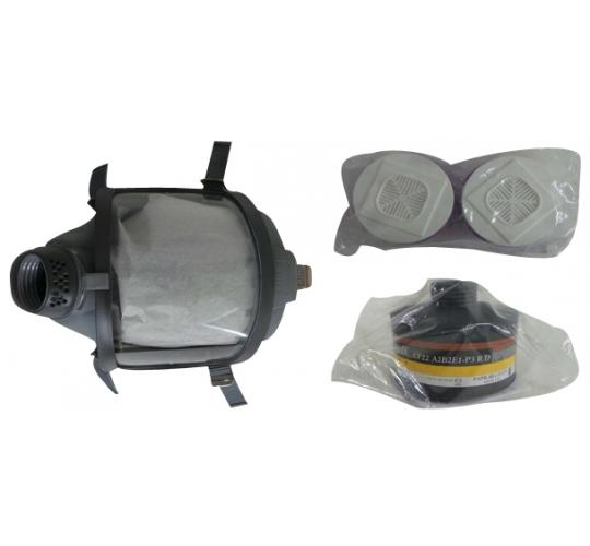One Off Joblot of 3 Workwear Full Face Respirators & 5 Mask Filters