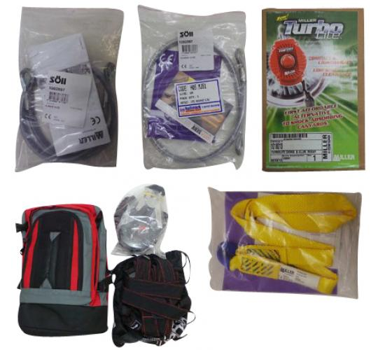 One Off Joblot of 11 Fall Protection Items - Anchorage Slings, Karabiners Etc