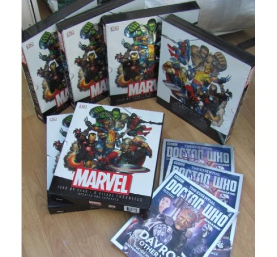 Marvel and Dr. Who Books
