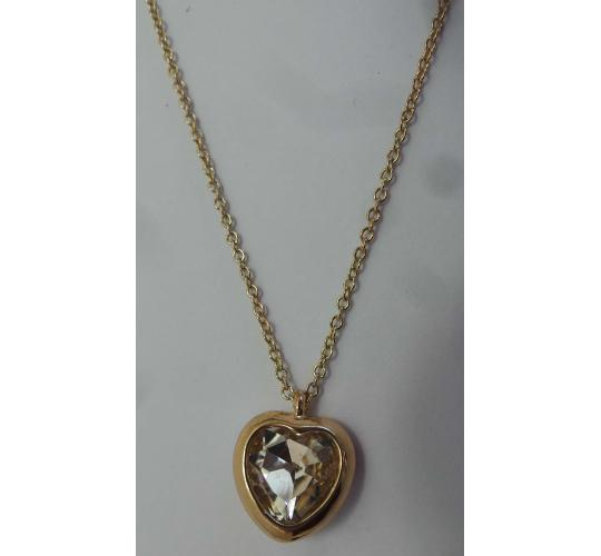 Wholesale Joblot of 20 DesignSix Heart Victor gold Necklaces 1552