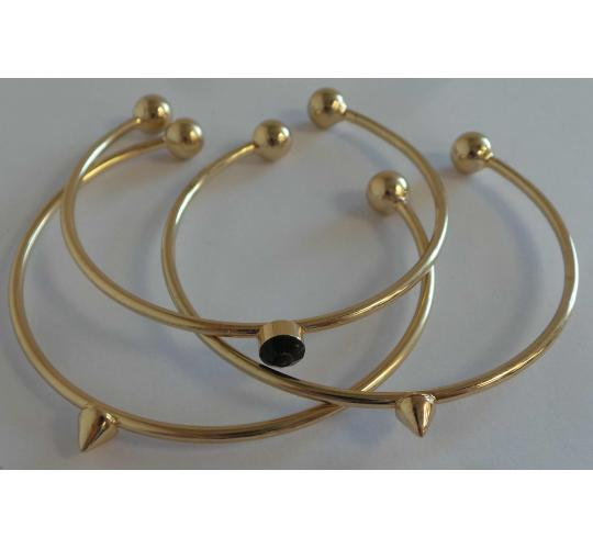 Wholesale Joblot Of 20 DesignSix Casted Ball End Bangles 3 Bangles Per Pack
