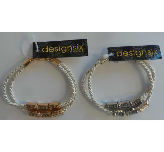 Wholesale Joblot of 20 DesignSix Mila Rope Bracelets Gold And Silver 11275
