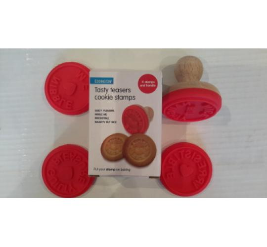25 EDDINGTONS TASTY TEASER COOKIE STAMPS Boxed sets of 4 different designs