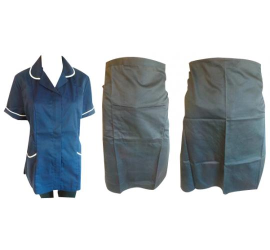 One Off Joblot of 17 Bar Aprons & Ladies Navy Health Tunics