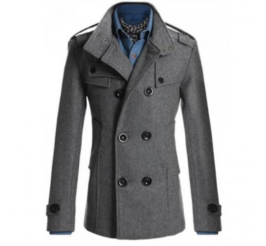 Wholesale Joblot Of 25 Mens Slim Fit Military Coats Black, Beige, Navy, Charcoal