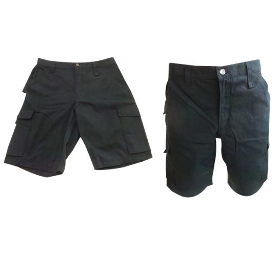 One Off Joblot of 11 Mens Russell Workwear Shorts Black & Navy Sizes 28-42