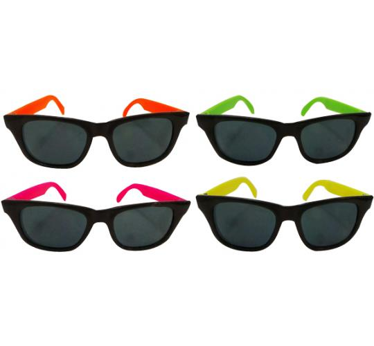 Wholesale Joblot of 20 Packs of 12 Dazzling Toys Wayfarer Style Neon Sunglasses