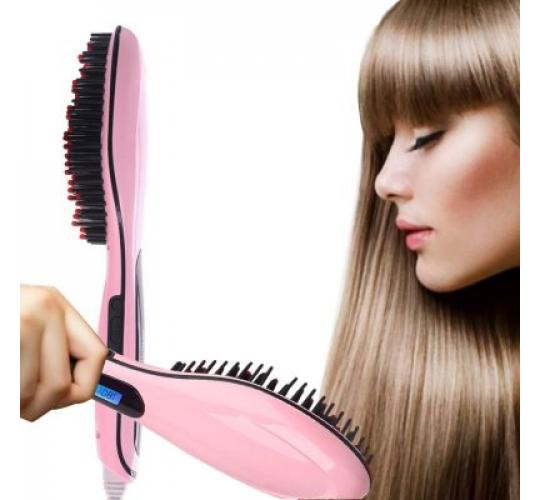 NEW MKQPOWER Straight Electric Hair Care Ceramic Straighteners Comb Brush LCD Display