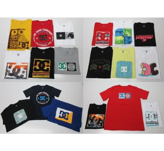 Wholesale Joblot of 50 Boys DC Shoes T-Shirts Assorted Styles & Colours