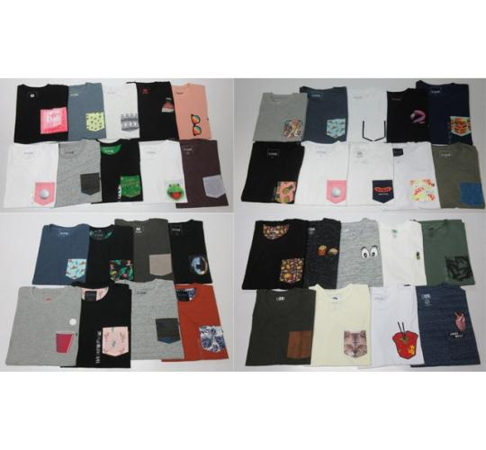 Wholesale Joblot of 50 DJAB Mens T-Shirts Assorted Colours & Designs