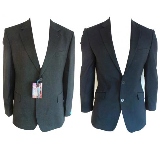 One Off Joblot of 9 Mens Formal Workwear Blazer Jackets Charcoal & Navy