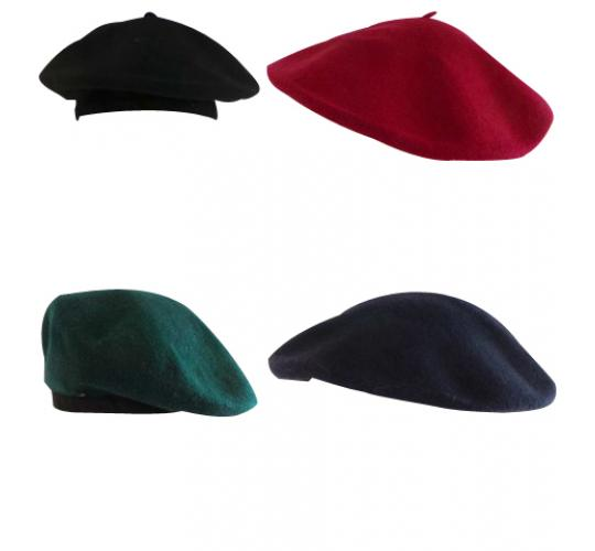 One Off Joblot of 119 Unisex Beret Hats - Good Mixture of Colours