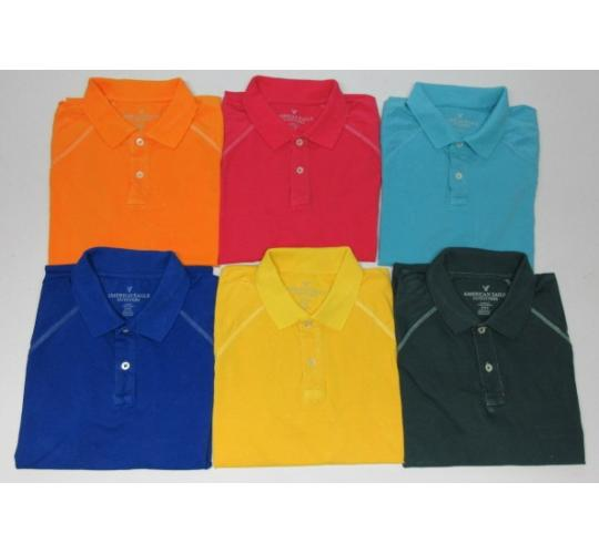 Wholesale Joblot of 50 American Eagle Outfitters Mens Polo Shirts Mixed Colours
