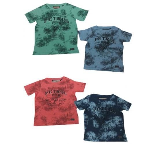 Wholesale Joblot of 50 Petrol Industries Boys T-Shirts 4 Colours Mix of Sizes