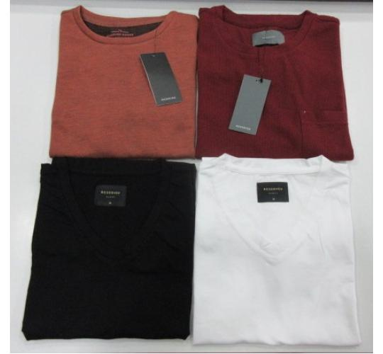 Wholesale Joblot of 50 Reserved Mens T-Shirts Various Styles & Colours S-2XL