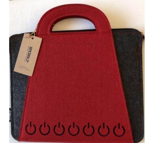 25 Red Felt iPad Travel/Carry/Storage Bag takes up to 10 inch iPad