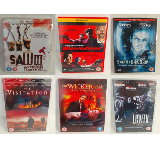 Wholesale Joblot of 100 DVDs Various Titles inc SAW, The Wickerman, Terminator