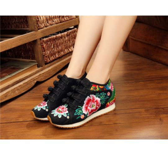 10 pairs of Trainer with floral embroidery ,mixed size of UK4,5,5.5, 6