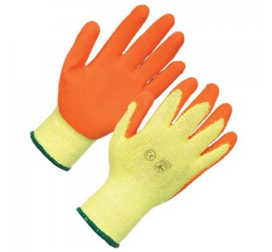 70 PAIRS WARRIOR ORANGE GRIP ( PACKS OF 10 ) GLOVES SIZE 10 EXTRA/LARGE CODE 11GG
