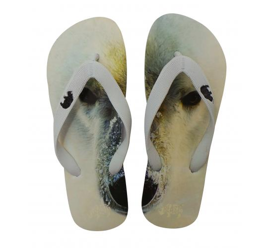 Wholesale Joblot of 20 Beasts Unisex Endangered Animals Polar Bear Flip Flops