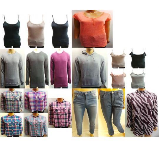 Wholesale Joblot of 100 Assorted Clothing Pieces Mens & Womens Huge Range