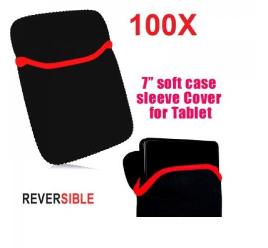 100 X Reversible Soft case pouch Sleeve Bag for 7 inch tablets