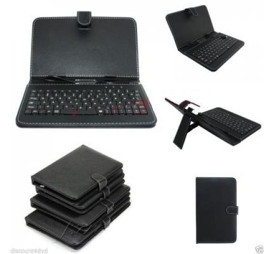 50 X Micro USB Keyboard PU Leather Stand Case For 9 inch Android Tablet Cover